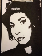 dessin personnages portrait amy winehouse : AMY WINEHOUSE