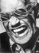 dessin personnages ray charles portrait crayon : Ray Charles