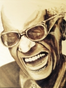 dessin personnages ray charles singer piano musique : Ray Charles