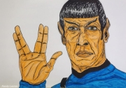 dessin personnages science fiction star trek spock espace : Mr Spock