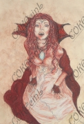 dessin personnages : vampire
