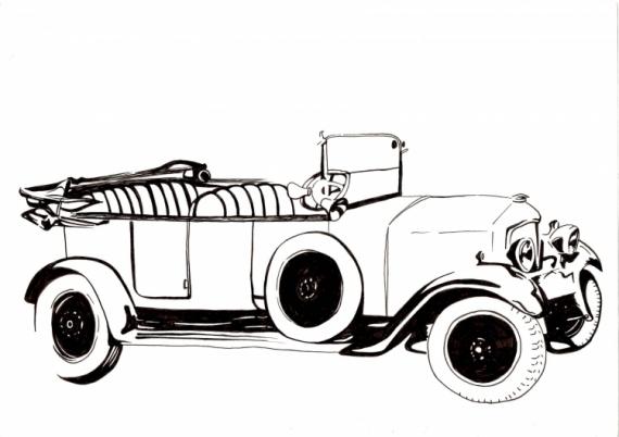 Dessin voiture ancienne car la voiture du voisin - Dessin de voiture ancienne ...