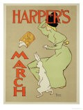 """Reproduction of a Poster Advertising """"Harper's Magazine, March Edition,"""" American, 1894 - Edward Penfield"""