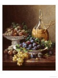 Still Life of Grapes, Plums and Wine - Eugene Claude