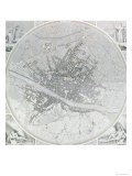 Map of Florence, 1843 and 1866 - Fantozzi