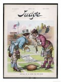 Two Vendors Bow to Each Other Over the Football in a Satirical View of the Sport's New Rules - Flohri