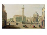 The Piazza Colonna, Rome - Gaspar van Wittel