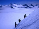 Mountaineers Ascending the Peaks Above Shackleton Gap, Antarctica - Grant Dixon