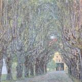 Parkway in Front of Castle Kammer at Lake Atter - Gustav Klimt