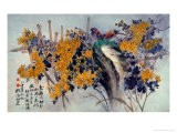 Chrysanthemums and Birds - Haizann Chen