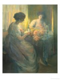 Woman Reading in Front of a Mirror - Hallie Champlin Hyde