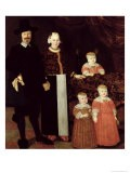 Portrait of a Hamburg Family, circa 1640 - Hamburg Master