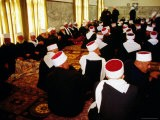 Druze Elders in the Prayer Hall at the Annual Pilgrimage to Nabi Shueib, Nabi Shueib - Hanan Isachar