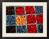 Raspberry, Blueberry and Blackberry Punnets at Farmers Market - Hanan Isachar