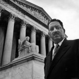 NAACP Chief Counsel Thurgood Marshall Standing on Steps of the Supreme Court Building - Hank Walker