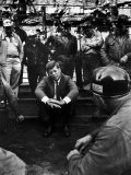 Presidential Candidate, Sen. John Kennedy Chatting with Miners, Campaigning During Primaries - Hank Walker