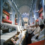 St. Peter's Basilica During the 2nd Vatican Ecumenical Council of the Roman Catholic Church - Hank Walker
