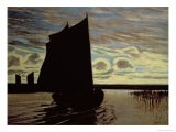 Barque on the River Hamme - Hans Am Ende