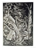 Witches at the Sabbath, Hans Baldung Grien, a History of Magic Published Late 19th Century - Hans Baldung Grien