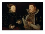 Lady Mary Neville and Her Son Gregory Fiennes, 10th Baron Dacre, 1559 - Hans Eworth