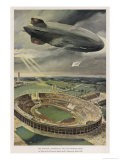 The Hindenburg Flies Over the Opening Ceremony - Hans Lidke