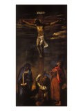 Crucifixion (Christ on the Cross with the Virgin, St John and St Dominic) - Hans Maler