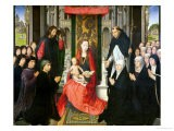 The Virgin and Child with St. James and St. Dominic Presenting the Donors and Their Family - Hans Memling