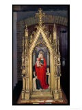 Virgin and Child, Reverse of the Reliquary of St. Ursula, 1489 - Hans Memling