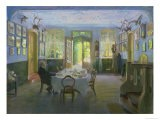 The Hall of the Manor House in Waltershof, 1894 - Hans Olde