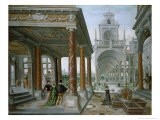 Cappricio of Palace Architecture with Figures Promenading, 1596 - Hans Or Jan Vredeman De Vries