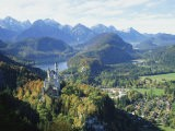 Neuschwanstein and Hohenschwangau Castles, Alpsee and Tannheimer Alps, Allgau, Bavaria, Germany - Hans Peter Merten