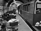 Londoners Sleeping Underground in Subway For Protection During German Bombing Raids - Hans Wild