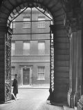 Looking Through Doorway Onto 10 Downing Street, Through Archway Entrance to Foreign Office - Hans Wild
