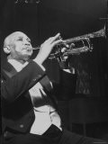 "Jazz Trumpeter William Christopher Handy, Composer of the ""St. Louis Blues,"" Playing His Instrument - Hansel Mieth"
