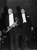 Singer Cab Calloway Standing on Stage with Composer W. C. Handy - Hansel Mieth