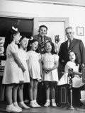 View of the Dionne Quintuplets Singing a Song for CBS Radio - Hansel Mieth