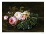 Still Life with Roses and Forget-Me-Nots - Hansine Eckersberg