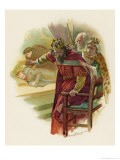 Hamlet, Claudius Disturbed by the Play Scene - Harold Copping