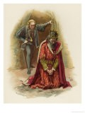 Hamlet Finds Claudius Praying But Refrains from Killing Him While in a State of Grace - Harold Copping