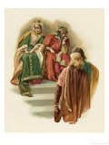 Hamlet, Rosencrantz and Guildenstern are Given Their Orders by Claudius - Harold Copping