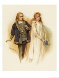 Hamlet with Ophelia - Harold Copping