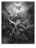 Paradise Lost, by John Milton: the rebel angels are cast out of heaven - Harold Copping