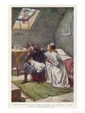 Becky the Maidservant Comforts Sara Crewe When She is Orphaned and Penniless - Harold Piffard