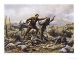Private J. Boyd of the Irish Guards Single-Handedly Captures an Enemy Machine-Gun - Harold Piffard