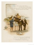 Small Child Clings to the Donkey's Mane While Her Brother Holds It by the Head - Harriet M. Bennett