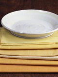 White Plate with Yellow Stripes on Yellow Napkins - Harry Bischof