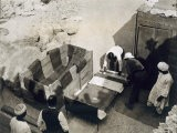 Moving the Centre Portion of One of the Beds, Tomb of Tutankhamun, Valley of the Kings, 1922 - Harry Burton
