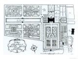 Plan of the Gardens at Belton House, Lincolnshire, as Formerly Existing, c.1900 - Harry Inigo Triggs