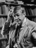 Poet, W. H. Auden, Sitting in Library at Home - Harry Redl