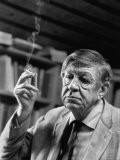 Poet Wystan H. Auden, Sitting in His Workshop at His House - Harry Redl